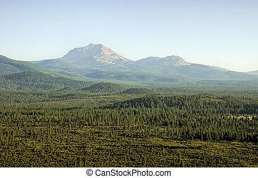 Mount Lassen in July Afternoon