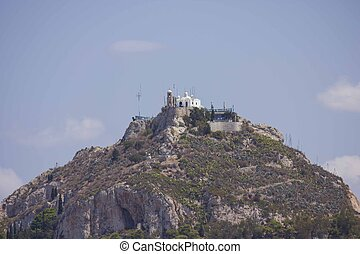 mount lycabettus, from Athens acropolis