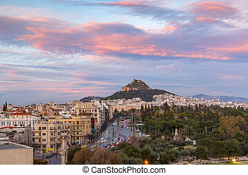 Mount Lycabettus in Athens, Greece