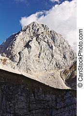 Mount Mangart, Slovenia - The mount Mangart, in Slovenia, in...