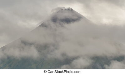 Mount Mayon Volcano in the province of Bicol, Philippines....