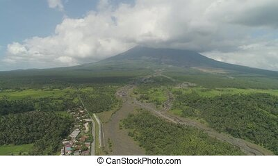 Mount Mayon vulcano, Philippines, Luzon - Aerial view of...