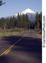 Mount McLoughlin Oregon Highway