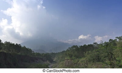 Mount Merapi, Gunung Merapi ,literally Fire Mountain in...