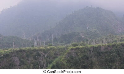 mount merapi volcano, indonesia