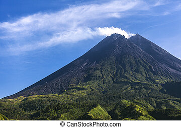Mount Merapi volcano, Java, Indonesia