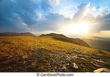 Mount Nurgush top Ural Russia - Mount Nurgush top South Ural...