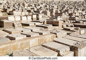 Mount of Olives Cemetery in Jerusalem, Israel