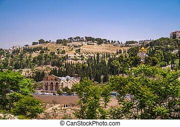 Mount of Olives - View on Mount of Olives in Jerusalem,...