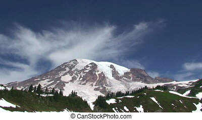 Mount Rainier National Park, Washington, time lapse