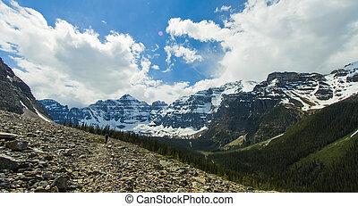 Mount Range Vista in Banff National Park