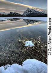 Mount Rundle and Vermillion Lakes - Mount Rundle and...