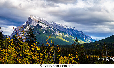 Mount Rundle in Banff National Park - Mount Rundle near the...