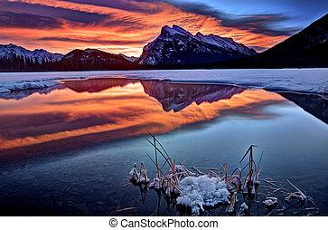 Mount Rundle Winter