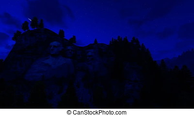 Mount Rushmore, 24 hour timelapse
