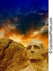 Mount Rushmore - George Washington sculpture.