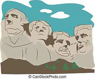 Mount Rushmore illustration.