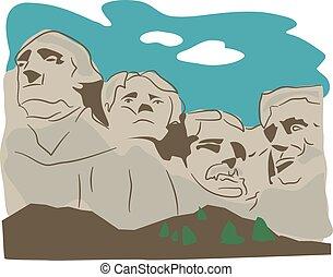 Mount Rushmore illustration.