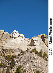 Mount Rushmore monument in South Dakota in the morning