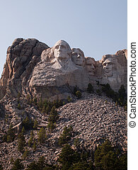 Mount Rushmore - Mt. Rushmore National Monument, South...