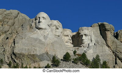 Mount Rushmore National Memorial in - Close-up of Mount...