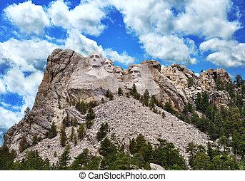 Mount Rushmore - Presidential Sculpture At Mount Rushmore...