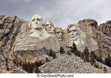 Mount Rushmore National Memorial. South Dakota, Rapid City,...