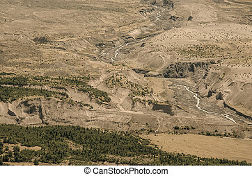 Mount Saint Helens Wasteland - Looking at the wasteland on...
