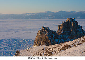 Mount Shaman. Olkhon Island - Nature. Olkhon Island in the...