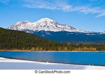 Mount Shasta, California - Mount Shasta in winter