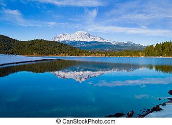 Mount Shasta California - Snowy mountain in Northern ...