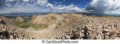 Mount Sherman Summit Panorama - panorama from the14036 foot ...