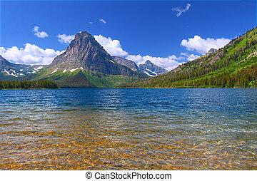 Mount Sinopah - Glacier National Park - Mount Sinopah rises...