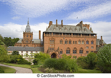 mount stuart - Mock gothic stately home with chapel on Bute,...