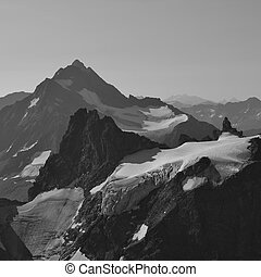 Mount Stucklistock and Fleckistock, view from mount Titlis -...