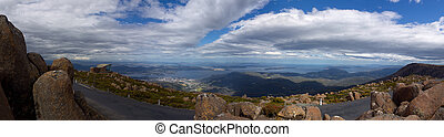 mount wellington tasmania - Panorama from mount wellington...