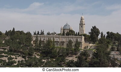 Mount Zion Dormition Abbey in  Jerusalem Israel