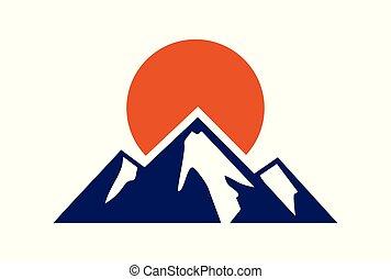mountain abstract logo icon vector