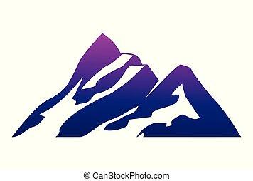 mountain abstract logo vector