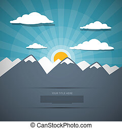 Mountain Abstract Vector Background