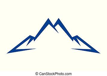 mountain abstract vector logo