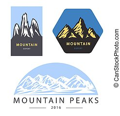 Mountain adventure and expedition  vector logo labels