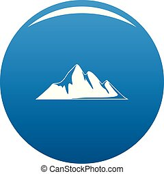 Mountain adventure icon blue vector