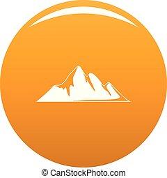 Mountain adventure icon vector orange