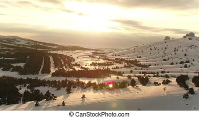 Mountain AI-Petri plateau - Aerial footage Mountain plateau...