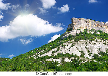 Mountain and blue sky
