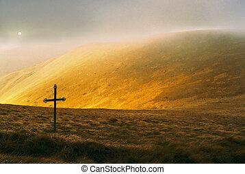 Mountain and cross