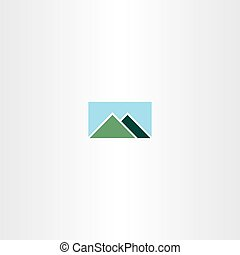 mountain and sky logo sign