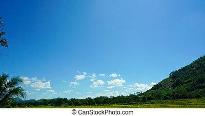 mountain and sky