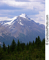 Mountain and Storm Clouds - Storm clouds over mountain in...